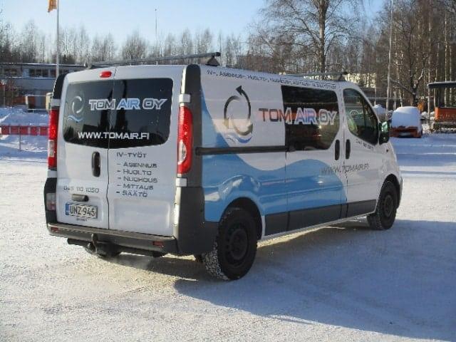 Jäähdytysverkoston tasapainotus, Tom Air, Iitti, Janakkala, ilmanvaihtokanavien puhdistus.