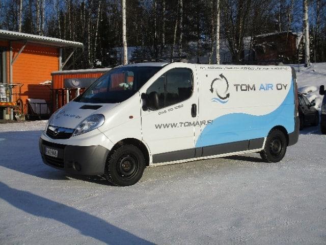 Lämmitysverkoston tasapainotus, Tom Air, Elimäki, Hamina, ilmastointikanava.